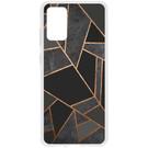 Design Backcover voor de Samsung Galaxy S20 Plus - Grafisch Zwart / Koper