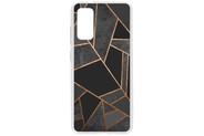 Design Backcover voor de Samsung Galaxy S20 - Grafisch Zwart / Koper