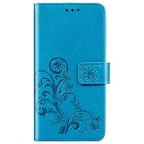 Klavertje Bloemen Booktype Samsung Galaxy A21 - Turquoise