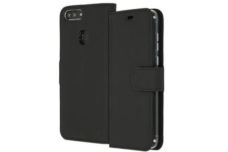 Accezz Wallet Softcase Booktype voor Huawei P Smart - Zwart