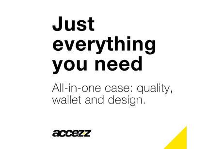 Accezz Wallet Softcase Booktype voor iPhone 8 / 7 / 6s / 6 - Goud