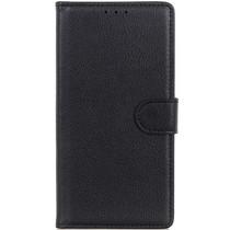 Basic Litchi Booktype Motorola Moto E6 Plus / E6s - Zwart