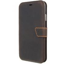 Valenta Impact Wallet Booktype iPhone Xs Max - Vintage Brown