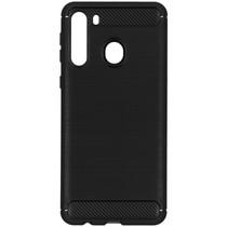 Brushed Backcover Samsung Galaxy A21 - Zwart