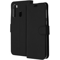 Accezz Wallet Softcase Booktype Samsung Galaxy A21 - Zwart