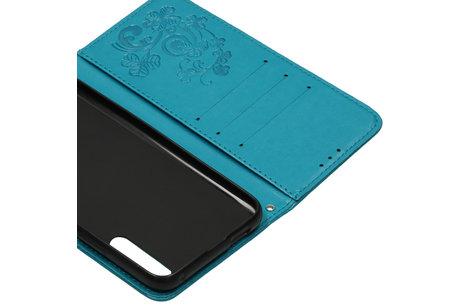 Honor 9X hoesje - Klavertje Bloemen Booktype voor