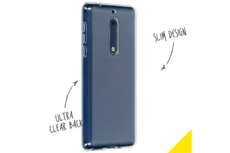 Nokia 5 hoesje - Accezz Clear Backcover voor