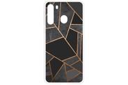 Design Backcover voor de Samsung Galaxy A21 - Grafisch Zwart / Koper