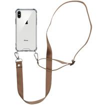 iMoshion Backcover met koord - Nylon iPhone Xs / X - Beige