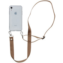 iMoshion Backcover met koord - Nylon iPhone Xr - Beige