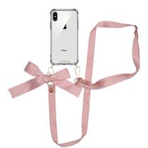iMoshion Backcover met koord - Satijn iPhone Xs / X - Rosé Goud