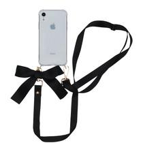 iMoshion Backcover met koord - Satijn iPhone Xr - Zwart