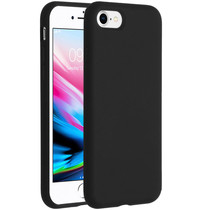 Accezz Liquid Silicone Backcover iPhone SE (2020) / 8 / 7 - Zwart