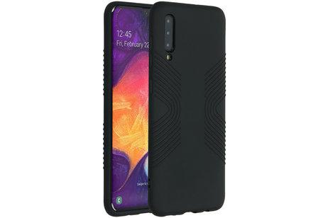 Accezz Impact Grip Backcover voor de Samsung Galaxy A50 / A30s - Zwart