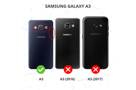 Anti-fingerprint Screenprotector voor Samsung Galaxy A3