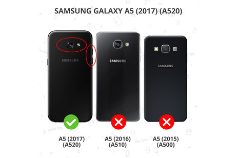 Accezz Wallet Softcase Booktype voor Samsung Galaxy A5 (2017) - Rosé goud