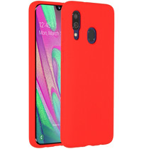 Accezz Liquid Silicone Backcover Samsung Galaxy A40 - Rood