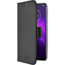 Azuri Book-style Wallet Case Motorola One Macro - Zwart