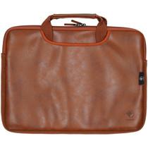 iMoshion Lederen look laptoptas met handvatten 13 inch - Bruin
