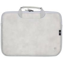 iMoshion Lederen look laptoptas met handvatten 15 inch - Grijs