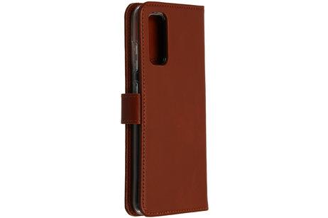 Samsung Galaxy S20 hoesje - Selencia Echt Lederen Booktype