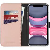 Selencia Echt Lederen Booktype iPhone 11 - Roze