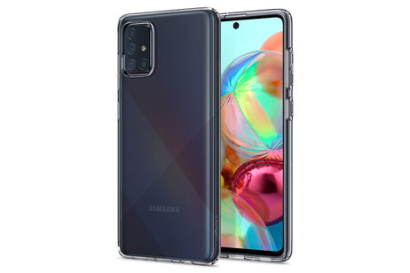 Samsung Galaxy A71 hoesje - Spigen Liquid Crystal Backcover