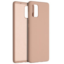 Accezz Liquid Silicone Backcover Samsung Galaxy A71 - Roze