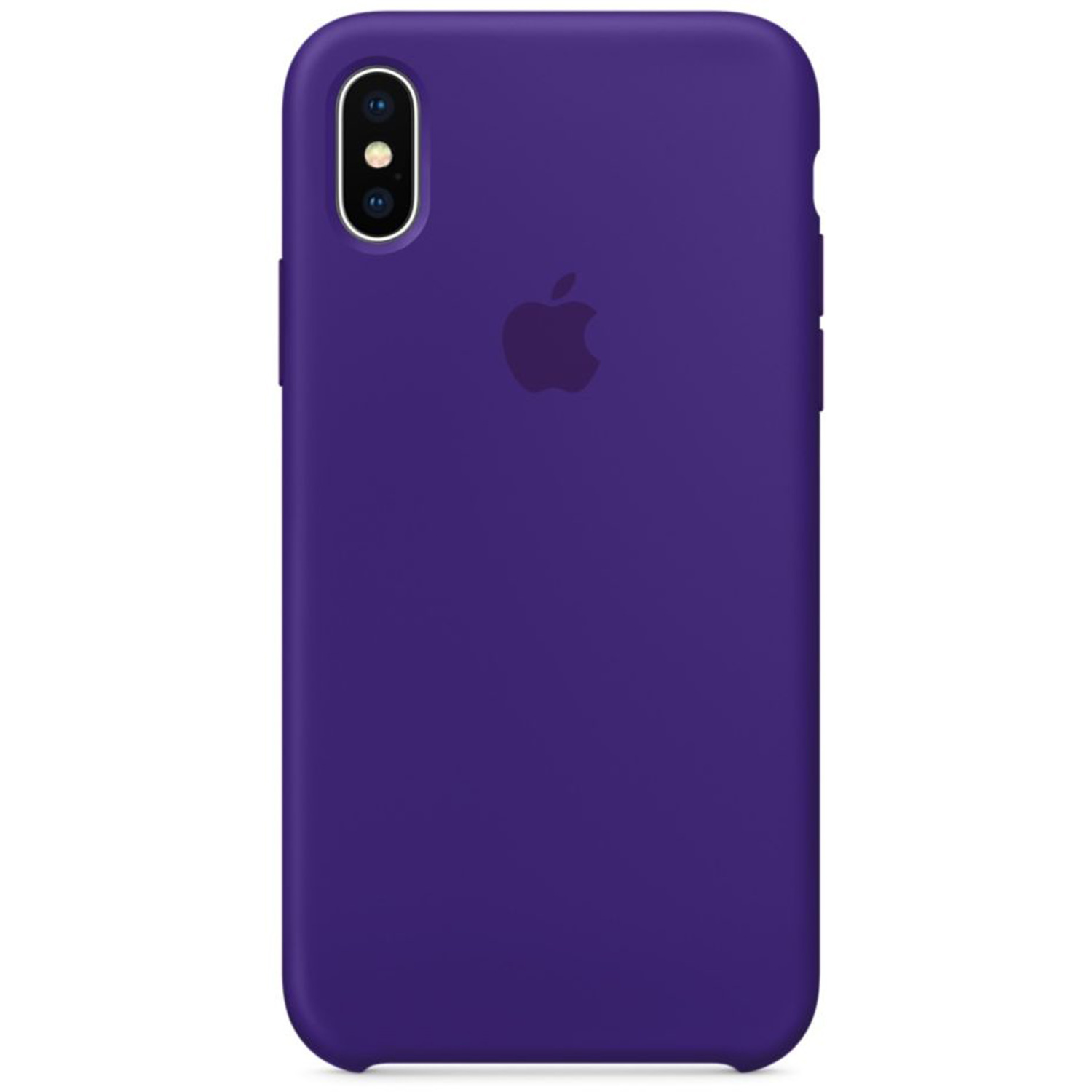 Silicone Backcover voor de iPhone X Ultra Violet