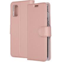 Accezz Wallet Softcase Booktype Samsung Galaxy A41 - Rosé Goud