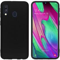 iMoshion Color Backcover Samsung Galaxy A40 - Zwart