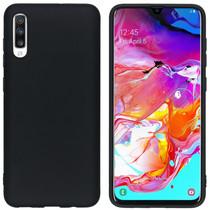 iMoshion Color Backcover Samsung Galaxy A70 - Zwart