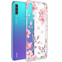 iMoshion Design hoesje Huawei P30 Lite - Bloem - Roze