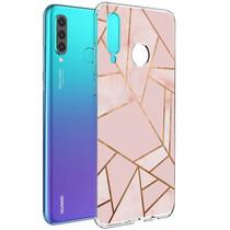 iMoshion Design hoesje Huawei P30 Lite - Grafisch Koper - Roze / Goud