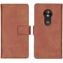 iMoshion Luxe Booktype Motorola Moto E5 Play - Bruin