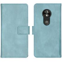 iMoshion Luxe Booktype Motorola Moto E5 Play - Lichtblauw