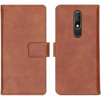 iMoshion Luxe Booktype Nokia 5.1 Plus - Bruin