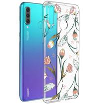 iMoshion Design hoesje Huawei P30 Lite - Bloem - Roze / Groen
