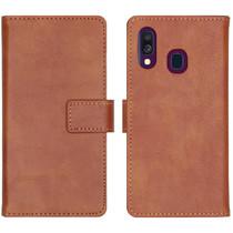 iMoshion Luxe Booktype Samsung Galaxy A40 - Bruin