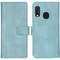 iMoshion Luxe Lederen Booktype Samsung Galaxy A20e - Lichtblauw