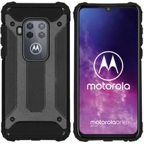 iMoshion Rugged Xtreme Backcover Motorola One Zoom - Zwart