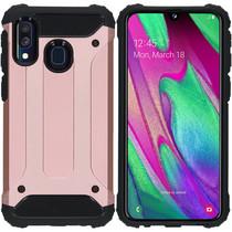 iMoshion Rugged Xtreme Backcover Samsung Galaxy A40 - Rosé Goud