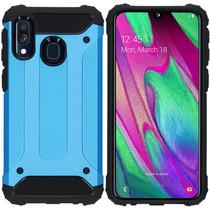iMoshion Rugged Xtreme Backcover Samsung Galaxy A40 - Lichtblauw