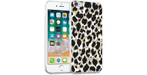 iMoshion Design hoesje iPhone 6 / 6s - Luipaard - Goud / Zwart
