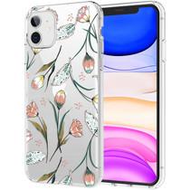 iMoshion Design hoesje iPhone 11 - Bloem - Roze / Groen