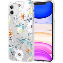 iMoshion Design hoesje iPhone 11 - Bloem - Wit