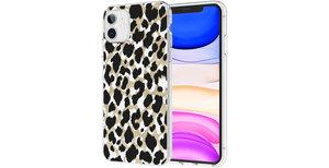 iMoshion Design hoesje iPhone 11 - Luipaard - Goud / Zwart