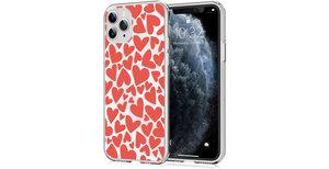 iMoshion Design hoesje iPhone 11 Pro - Hartjes - Rood