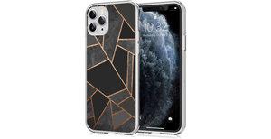 iMoshion Design hoesje iPhone 11 Pro - Grafisch Koper - Zwart / Goud