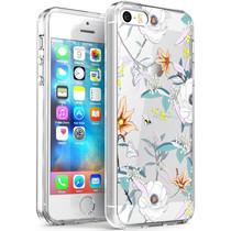 iMoshion Design hoesje iPhone 5 / 5s / SE - Bloem - Wit